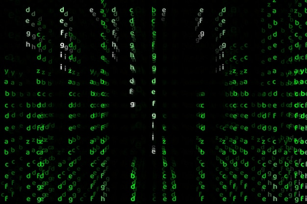 Алфавит глубокий размер зеленый цвет абстрактный текст фон