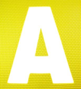 アルファベットの泡のカラフルなパズル。
