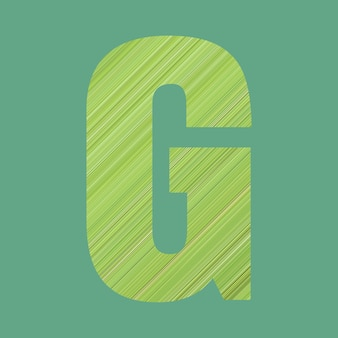 Alphabet letters of shape t in green pattern style on pastel green color background