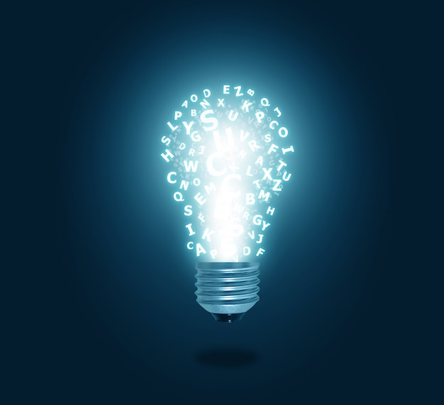 Alphabet light bulb