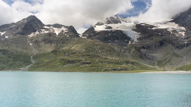 Alpine lake in the alps