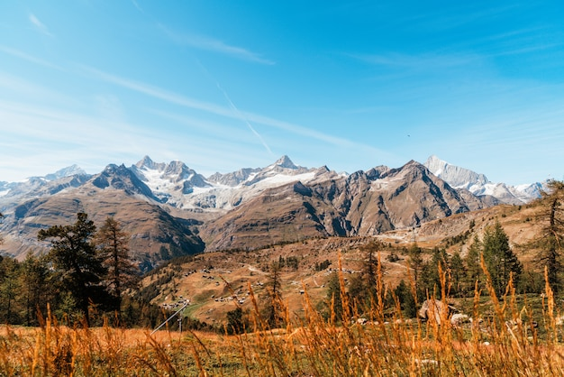 Alps mountains in zermatt, switzerland