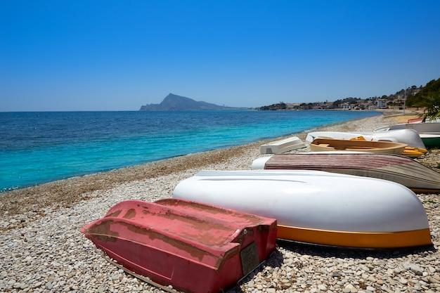 Altea beach in alicante playa de l olla