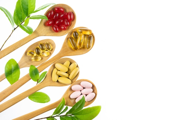 Alternative herbal medicine, vitamin and supplements from natural