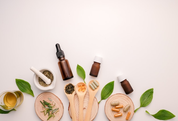 Alternative medicine utensils and ingredients for herbal oil capsules