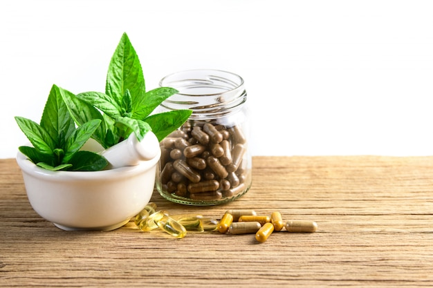 Alternative medicine, vitamin and supplements from natural herbs