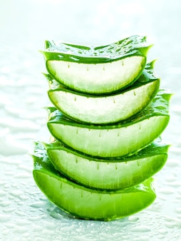 Alternative skin care aloe vera stack with water drop