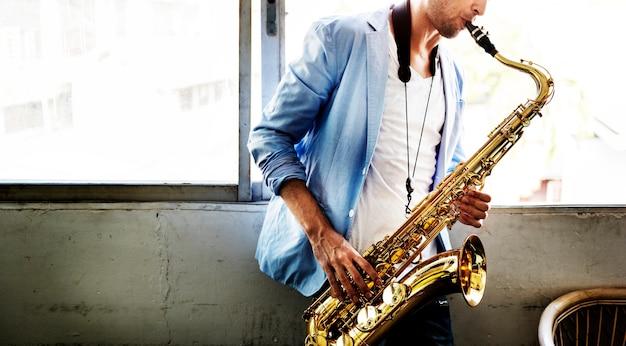 Alto saxophone artist classical jazz musician sax concept
