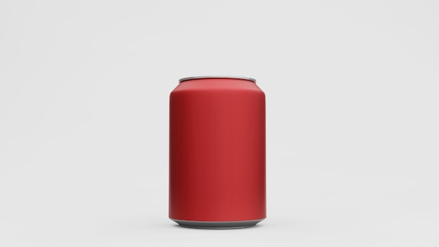 알루미늄 캔 또는 소다 팩에 격리 된 흰색 배경까지 조롱. , 3d 렌더링
