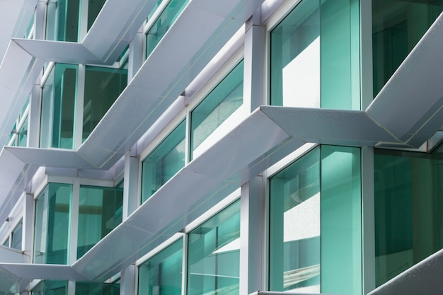 Aluminium composite material (acm) office building exteriors flammable cladding.