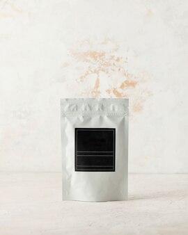라이트 b에 서명을 위한 블랙 라벨이 있는 차 커피 향신료 및 벌크 물질용 알루미늄 가방...
