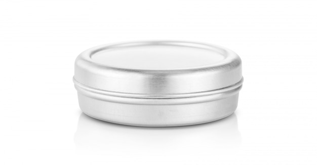 Aluminum balm jar for cosmetic product