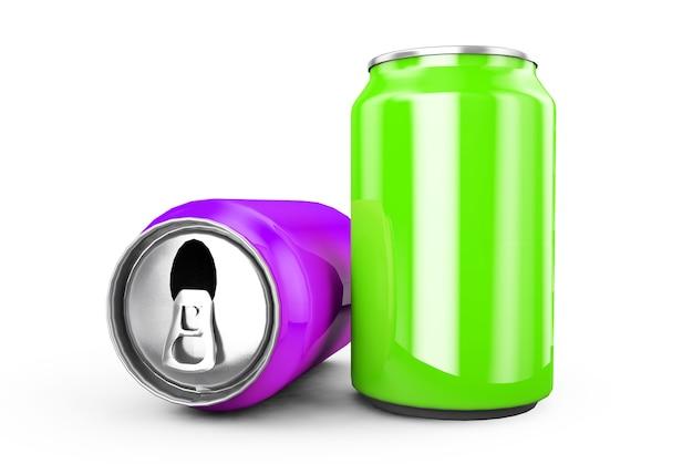 알루미늄 캔 3d 렌더링은 맥주 라거 알코올 청량 음료 소다에 이상적입니다.