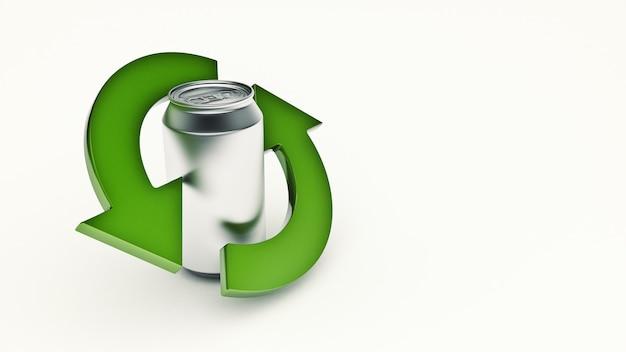 알루미늄은 3d 렌더링을 재활용할 수 있습니다.