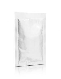 Aluminum foil snack sachet isolated