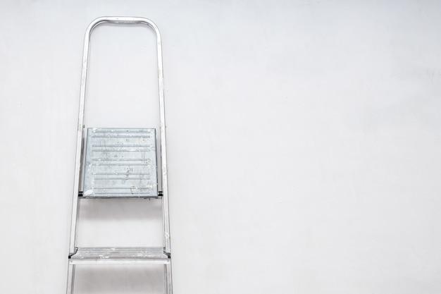 Aluminum folding ladder and shadow