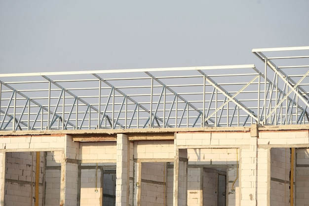 Aluminum roof structure,  building structure
