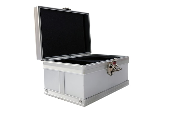 Aluminum silver toolbox isolated