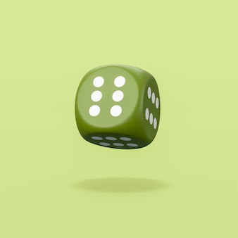 Always winner dice on green background