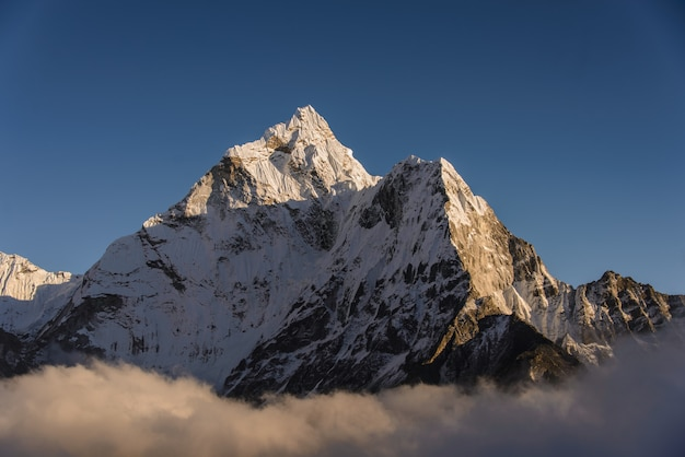 Ama-dablam on the sunset