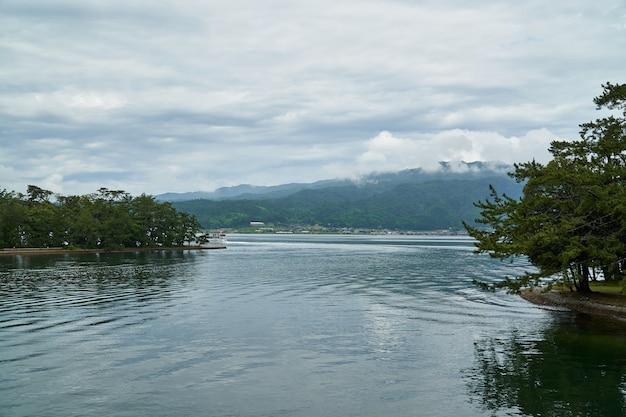 Amanohashidate boat in the sea