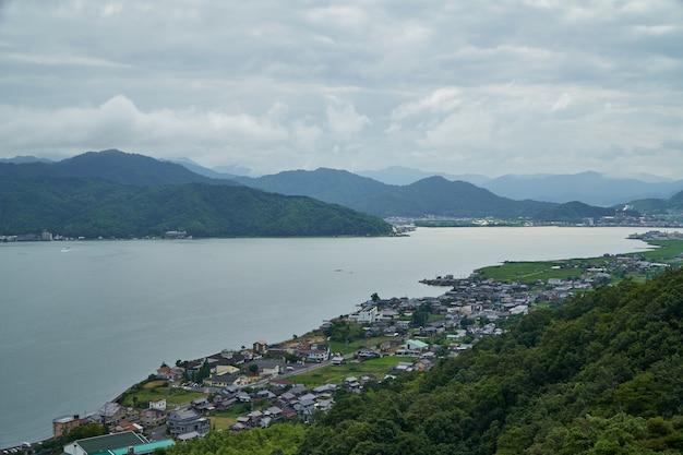 Amanohashidate with blue sky