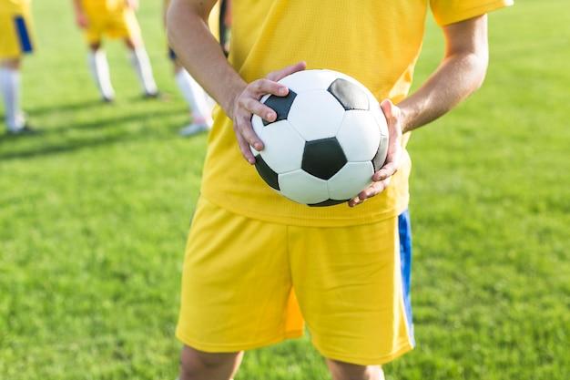 Concetto di calcio amatoriale