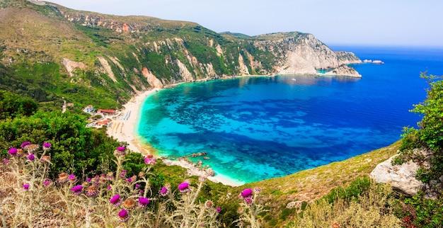그리스의 놀라운 해변-cefalonia 섬의 아름다운 petani