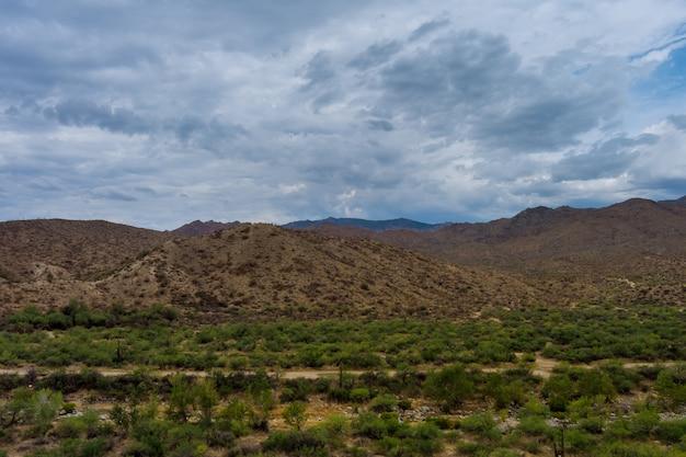 아리조나 계곡의 놀라운 아름다운 공중 전망 파노라마 풍경