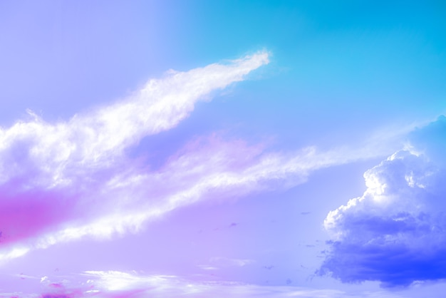 Amazing beautiful art sky with colorful clouds