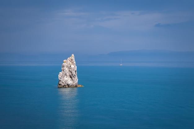 Amazing cliff in the sea