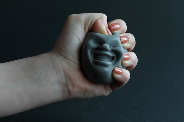 Amazing fun silicone toy antistress in the hand of .toy for the development of hand motor