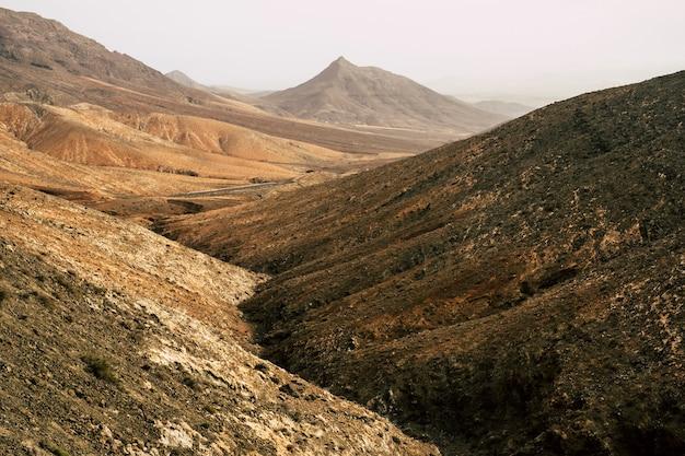 놀라운 산 계곡 파노라마 카나리아 섬.