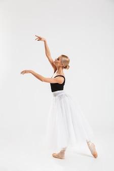 Amazing pretty young woman ballerina