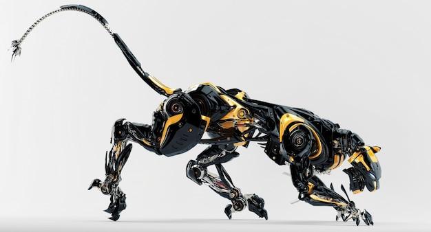 Amazing robot leopard