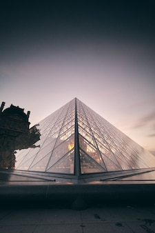 Amazing shot of the louvre in paris, france