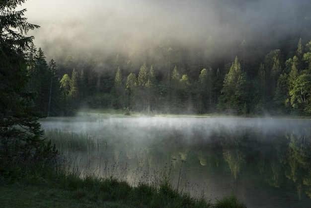 바바리아, 독일의 ferchensee 호수의 놀라운 샷