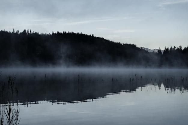 Удивительный снимок озера ферхензее в баварии, германия