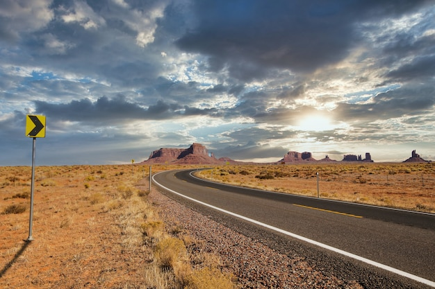 Amazing shot of the oljato–monument valley in utah, usa