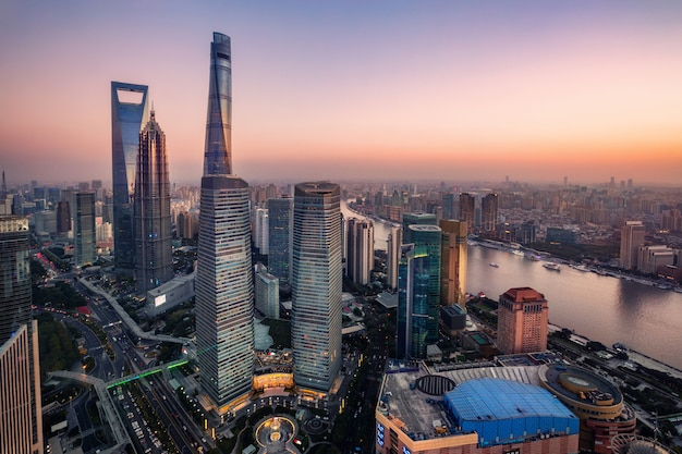 Amazing skyscrapers in shanghai