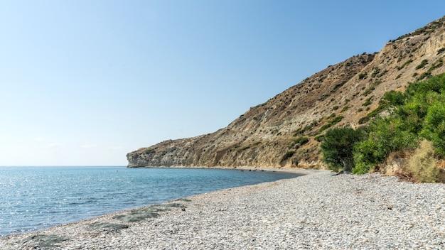 クリオンビーチの素晴らしい景色。リマソール。キプロス共和国。 2020