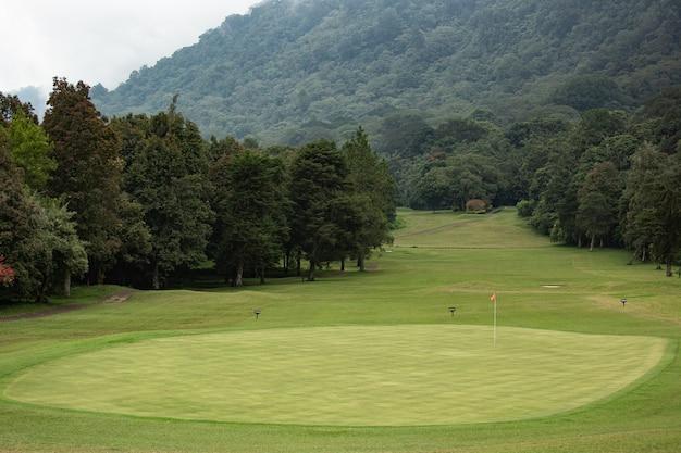 Прекрасный вид на поле для гольфа. бали. индонезия
