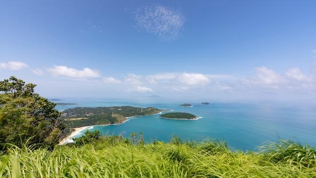놀라운 관점 풍경 풍경 보기 phahindum 보기 포인트와 산 위에 그림자 구름 태국 푸켓의 인기 있는 랜드마크 일몰 풍경 자연 보기를 볼 수 있는 관점.