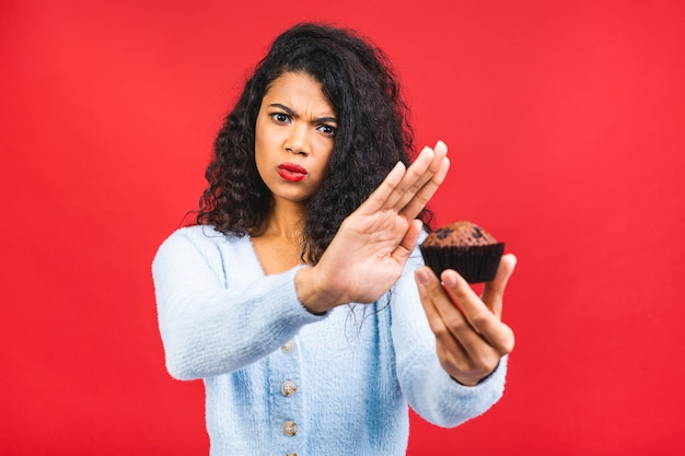 American african girl says no to cookie