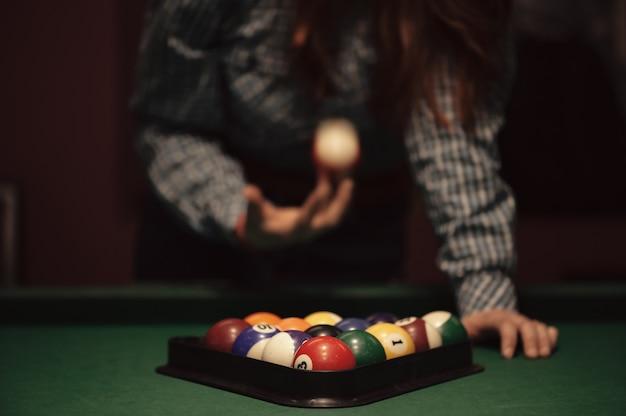 American billiard poule.