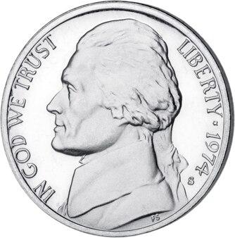 흰색 바탕에 미국 동전