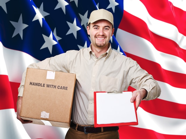 American delivery worker