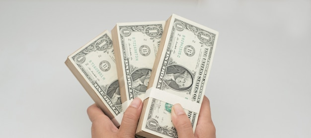 American dollars and credit cards for pay