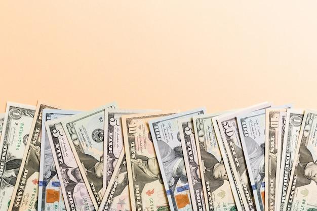 American fifty dollar bills background