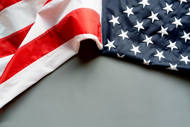 American flag on abstract background